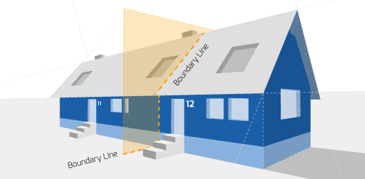 Party Wall illustration for Burton on Trent