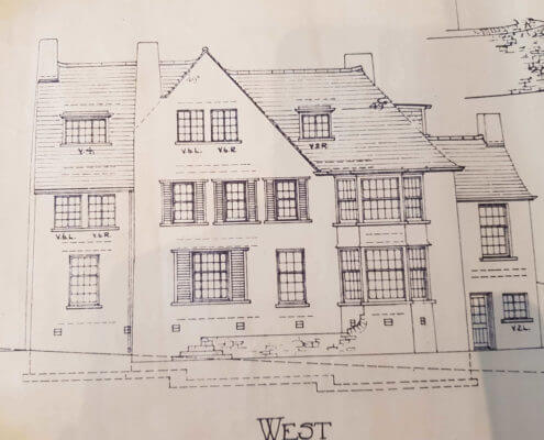 Burton on Trent Surveyors. Building Plan of an old traditional house